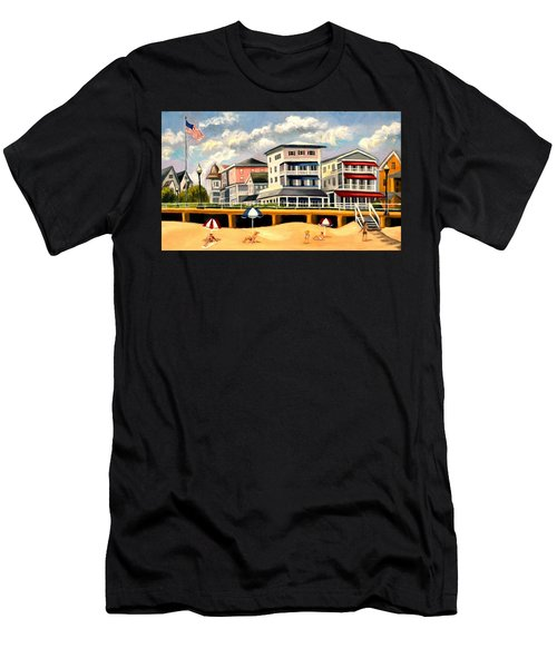 Boardwalk On The Jersey Shore Men's T-Shirt (Athletic Fit)