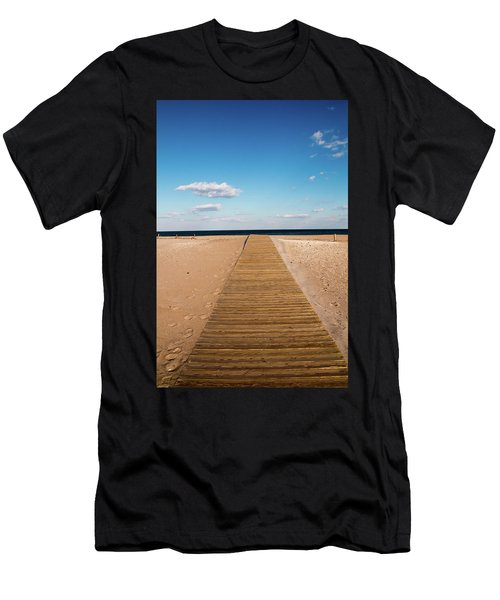 Men's T-Shirt (Athletic Fit) featuring the photograph Boardwalk To The Ocean by Kristia Adams
