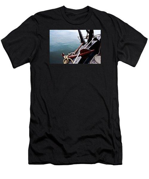 Boat Anchor Men's T-Shirt (Slim Fit) by Rena Trepanier