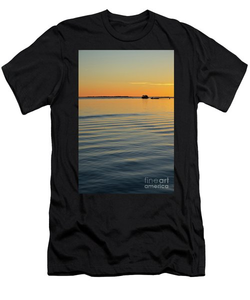 Boat And Dock At Dusk Men's T-Shirt (Athletic Fit)