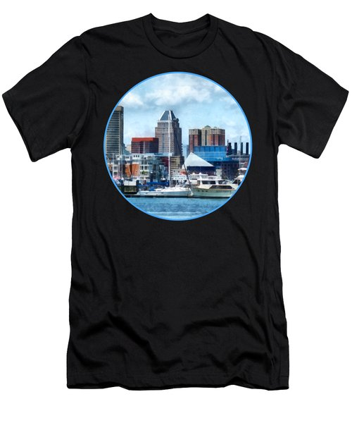 Boat - Baltimore Skyline And Harbor Men's T-Shirt (Athletic Fit)