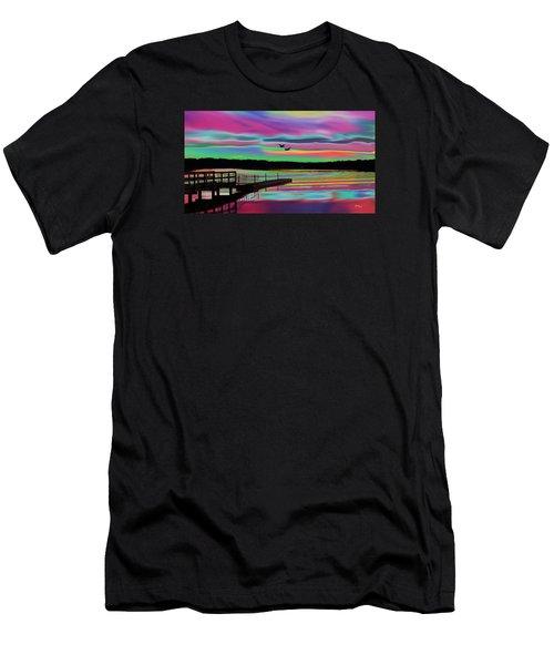 Boat Dock Men's T-Shirt (Athletic Fit)