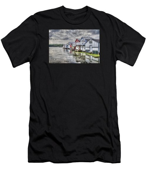 Boat Houses In The Finger Lakes Men's T-Shirt (Athletic Fit)