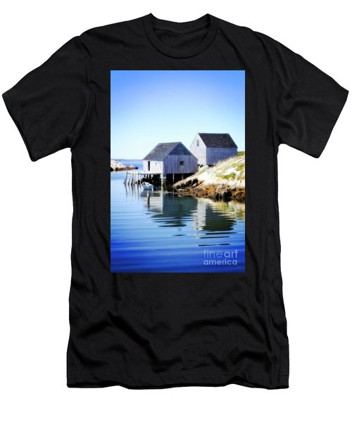 Boat Houses Men's T-Shirt (Athletic Fit)