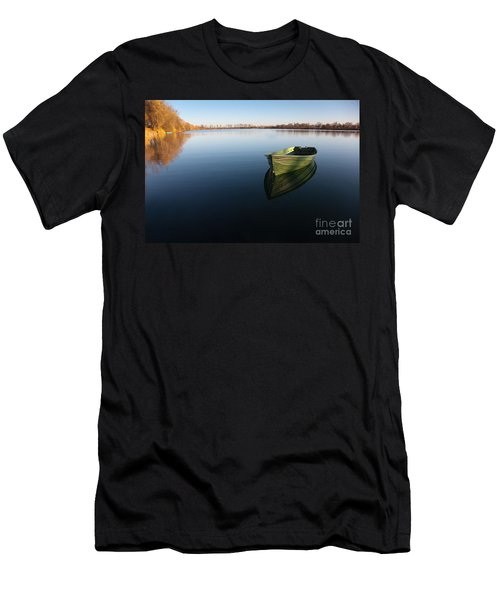Boat On Lake Men's T-Shirt (Athletic Fit)