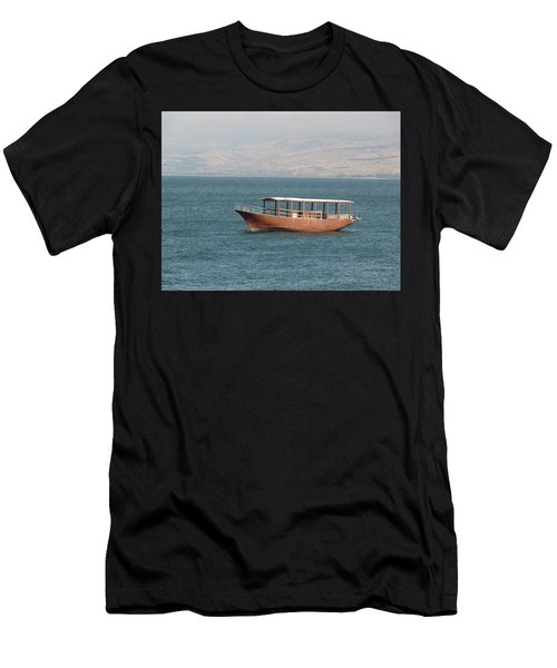 Boat On Sea Of Galilee Men's T-Shirt (Athletic Fit)