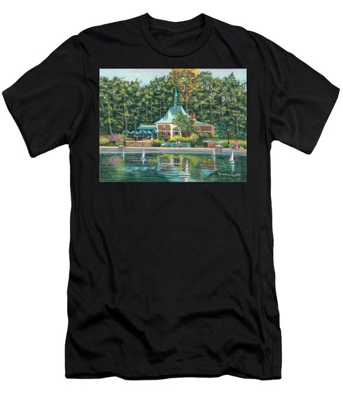 Boathouse In Central Park, N.y. Men's T-Shirt (Athletic Fit)