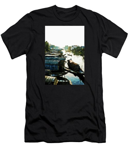 Boathouses In Vietnam Men's T-Shirt (Athletic Fit)