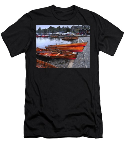 Boats At Windermere Men's T-Shirt (Athletic Fit)