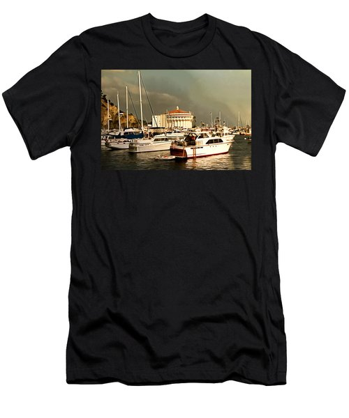 Men's T-Shirt (Slim Fit) featuring the photograph Boats Catalina Island California by Floyd Snyder