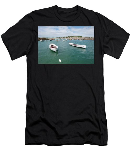 Boats In Habour Men's T-Shirt (Athletic Fit)
