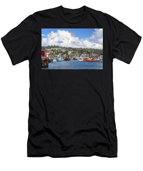 Boats In Yaquina Bay Men's T-Shirt (Athletic Fit)
