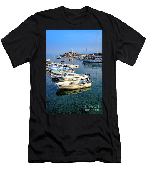 Boats Of The Adriatic, Rovinj, Istria, Croatia  Men's T-Shirt (Athletic Fit)