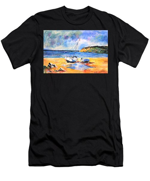 Boats On The Beach Men's T-Shirt (Athletic Fit)