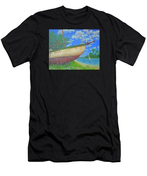 Boatyard On Shem Creek Men's T-Shirt (Athletic Fit)