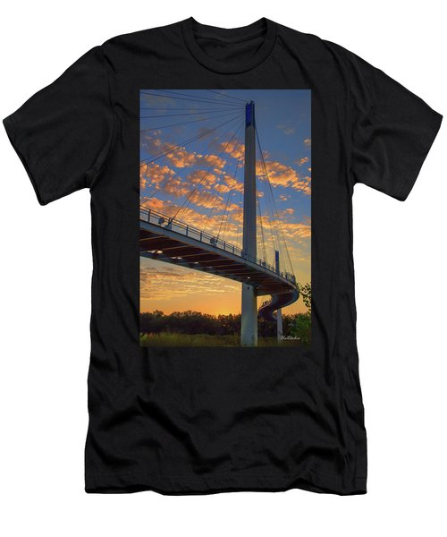 Bob Kerry Bridge At Sunrise Men's T-Shirt (Athletic Fit)