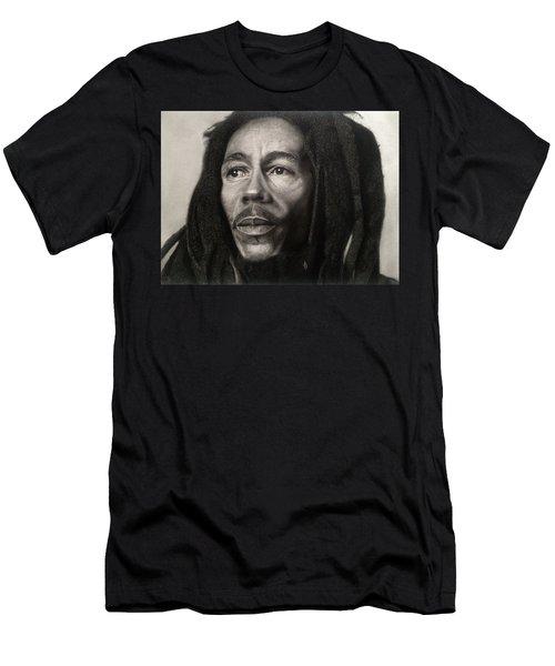 Bob Marley Drawing Men's T-Shirt (Athletic Fit)