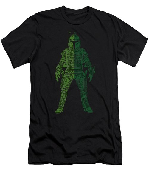 Boba Fett - Star Wars Art, Green 02 Men's T-Shirt (Athletic Fit)