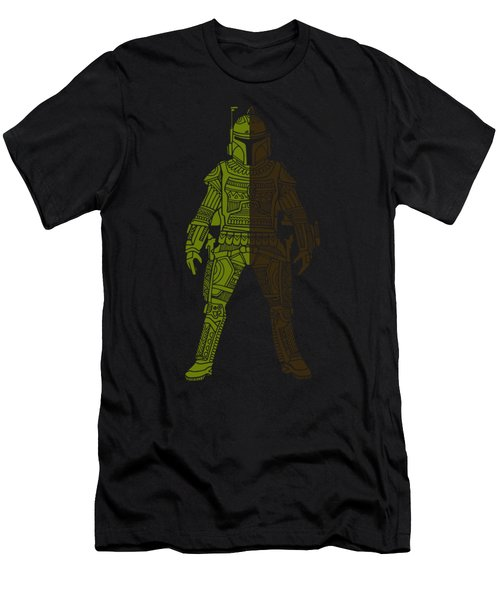 Boba Fett - Star Wars Art, Green 03 Men's T-Shirt (Athletic Fit)