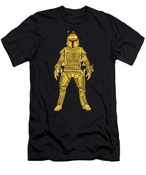 Boba Fett - Star Wars Art, Yellow Men's T-Shirt (Athletic Fit)