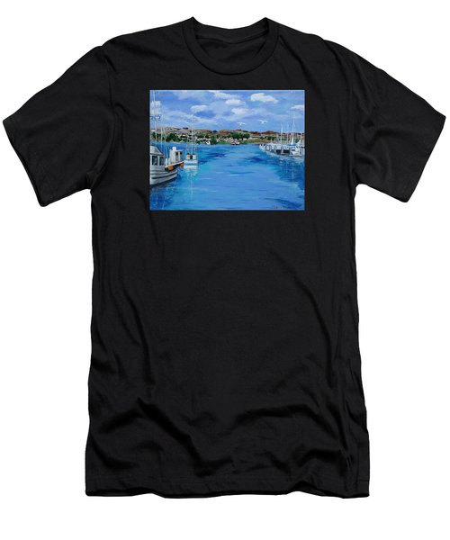 Bodega Bay From Spud Point Marina Men's T-Shirt (Athletic Fit)