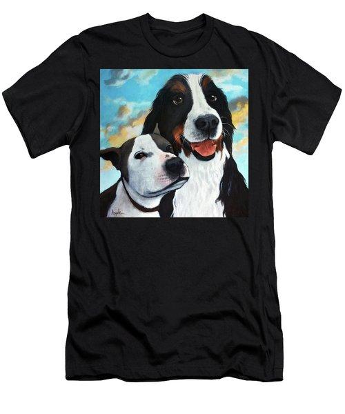 Bodhi And Lily  Pet Portrait Men's T-Shirt (Athletic Fit)