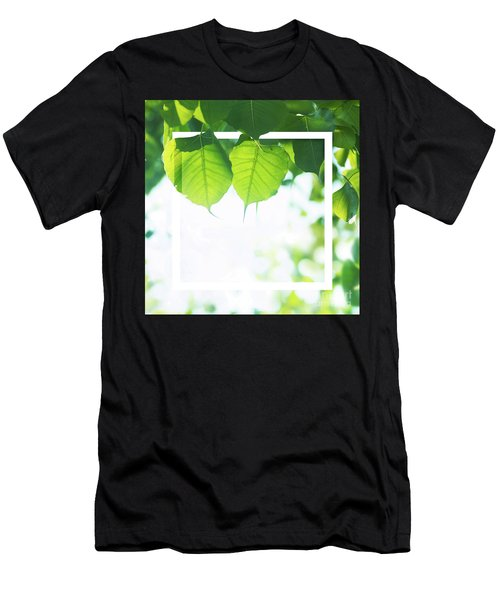 Bodhi Leaves With White Frame Men's T-Shirt (Athletic Fit)
