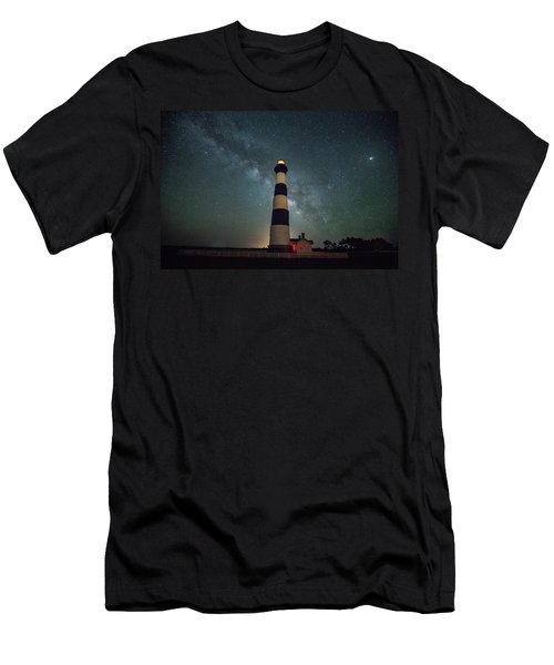 Bodie Lighthouse And Milky Way Men's T-Shirt (Athletic Fit)