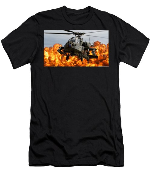 Boeing Ah-64 Apache Men's T-Shirt (Athletic Fit)