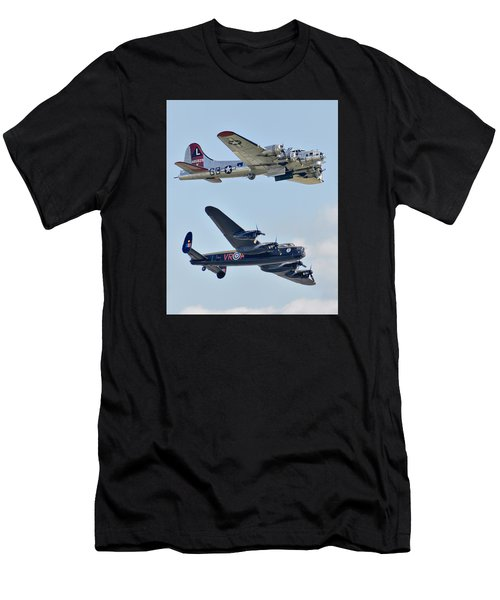 Boeing B-17g Flying Fortress And Avro Lancaster Men's T-Shirt (Athletic Fit)