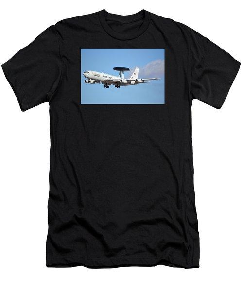Boeing E-3b 71-1407 Sentry Phoenix Sky Harbor January 9 2015 Men's T-Shirt (Athletic Fit)