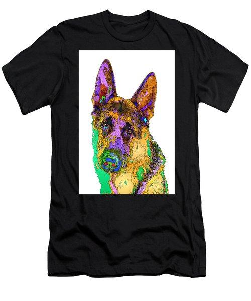 Bogart The Shepherd. Pet Series Men's T-Shirt (Athletic Fit)