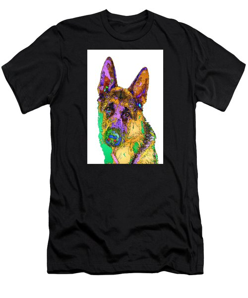 Bogart The Shepherd. Pet Series Men's T-Shirt (Athletic Fit)