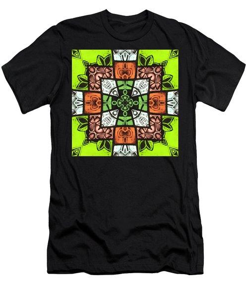 Boho Blocks Men's T-Shirt (Athletic Fit)