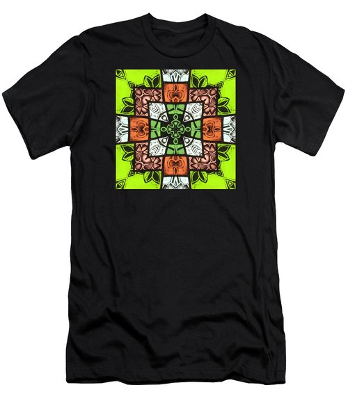 Boho Blocks Men's T-Shirt (Athletic Fit)