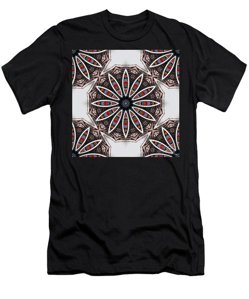 Boho Flower Men's T-Shirt (Slim Fit) by Mo T