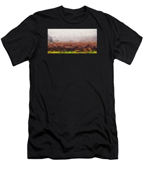 Men's T-Shirt (Slim Fit) featuring the photograph Boiling Field by Spyder Webb
