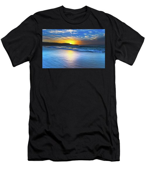 Bold And Blue Sunrise Seascape Men's T-Shirt (Athletic Fit)
