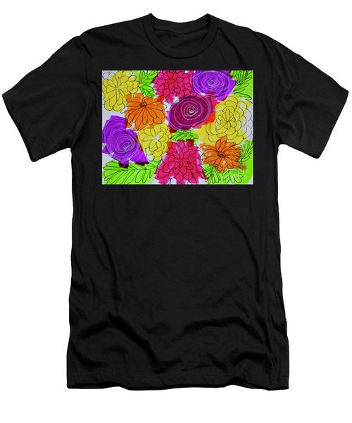 Men's T-Shirt (Athletic Fit) featuring the painting Bold Flowers by Kim Nelson