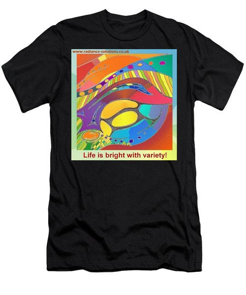 Bold Organic - Life Is Bright With Variety Men's T-Shirt (Athletic Fit)