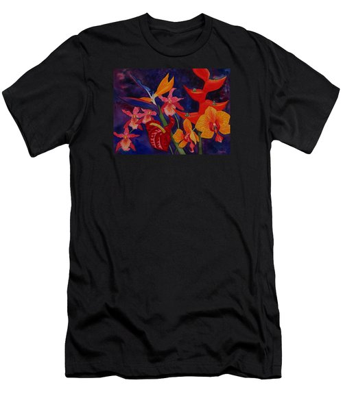 Bold Tropical Flowers Men's T-Shirt (Athletic Fit)