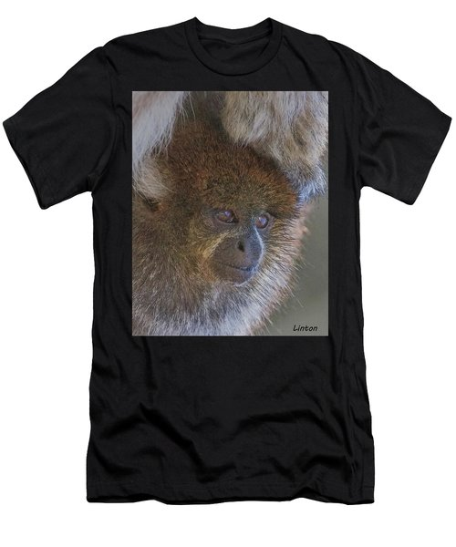 Men's T-Shirt (Athletic Fit) featuring the digital art Bolivian Grey Titi Monkey by Larry Linton