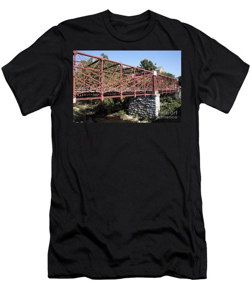 Bollman Truss Bridge At Savage In Maryland Men's T-Shirt (Athletic Fit)