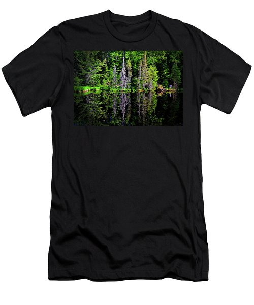 Bond Falls - Michigan 001 - Reflection Men's T-Shirt (Athletic Fit)