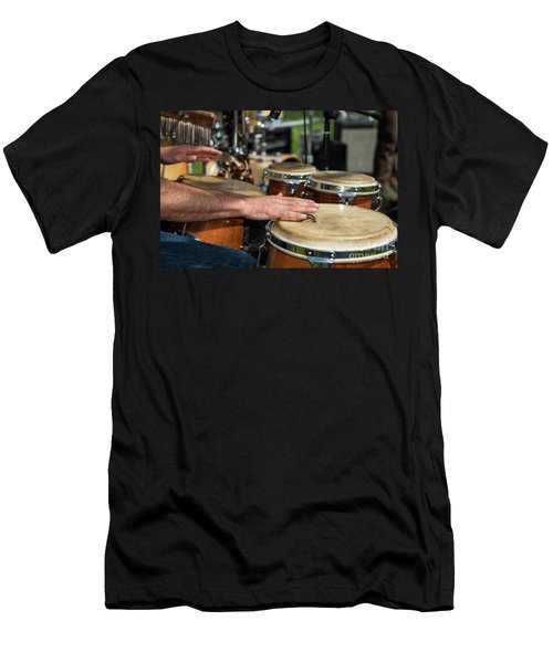 Bongo Hand Drums Men's T-Shirt (Athletic Fit)