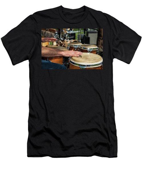 Bongo Hand Drums Men's T-Shirt (Athletic Fit)