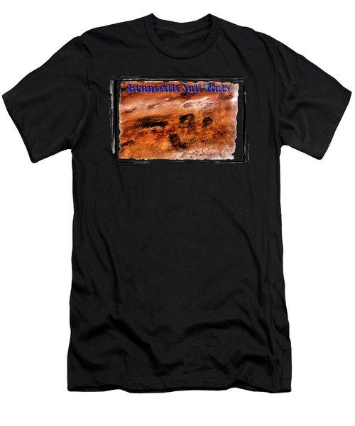 Bonneville Salt Flats Detail No. 01 Men's T-Shirt (Athletic Fit)