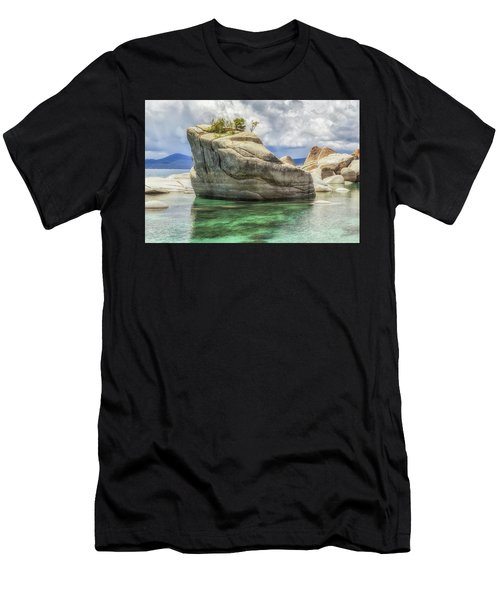 Bonsai Rock And Rain Shower Men's T-Shirt (Athletic Fit)