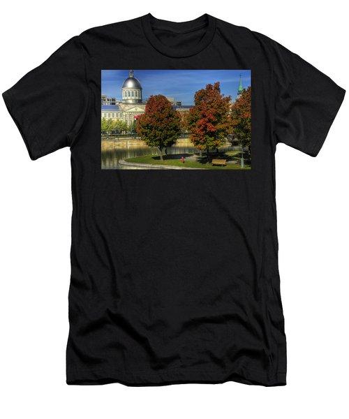 Bonsecours Market Men's T-Shirt (Athletic Fit)