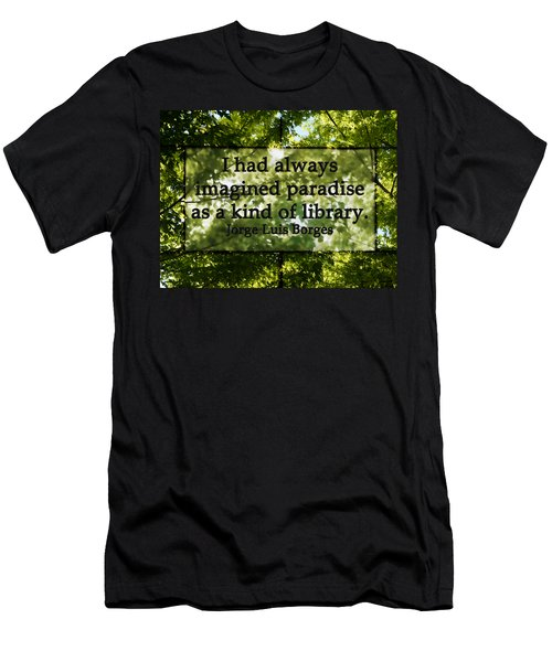 Books Are A Paradise Men's T-Shirt (Slim Fit) by Angelina Vick